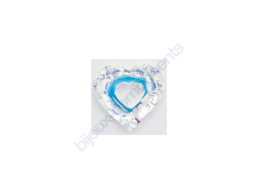 SWAROVSKI ELEMENTS přívěsek - Miss U Heart, crystal AB, 17mm