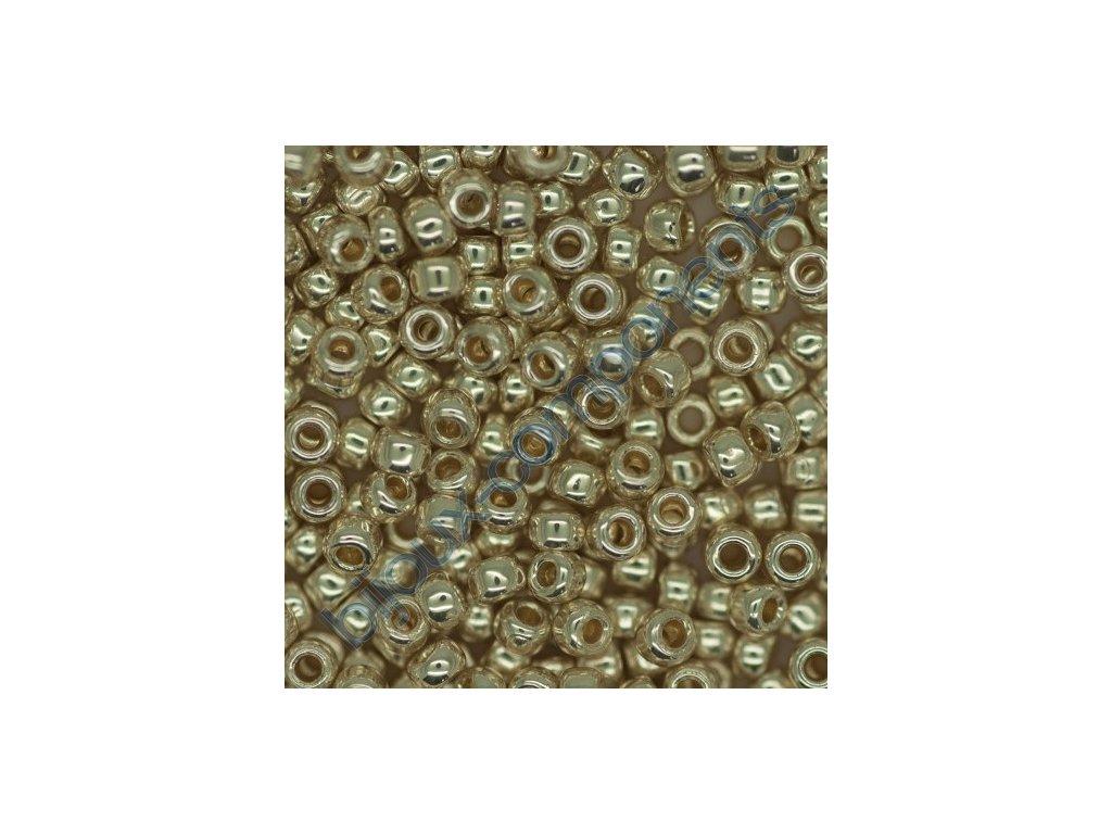 TOHO rokajl, Permanent-Finish-Galvanized Aluminum, vel.2,2 mm, průtah 0,8 mm