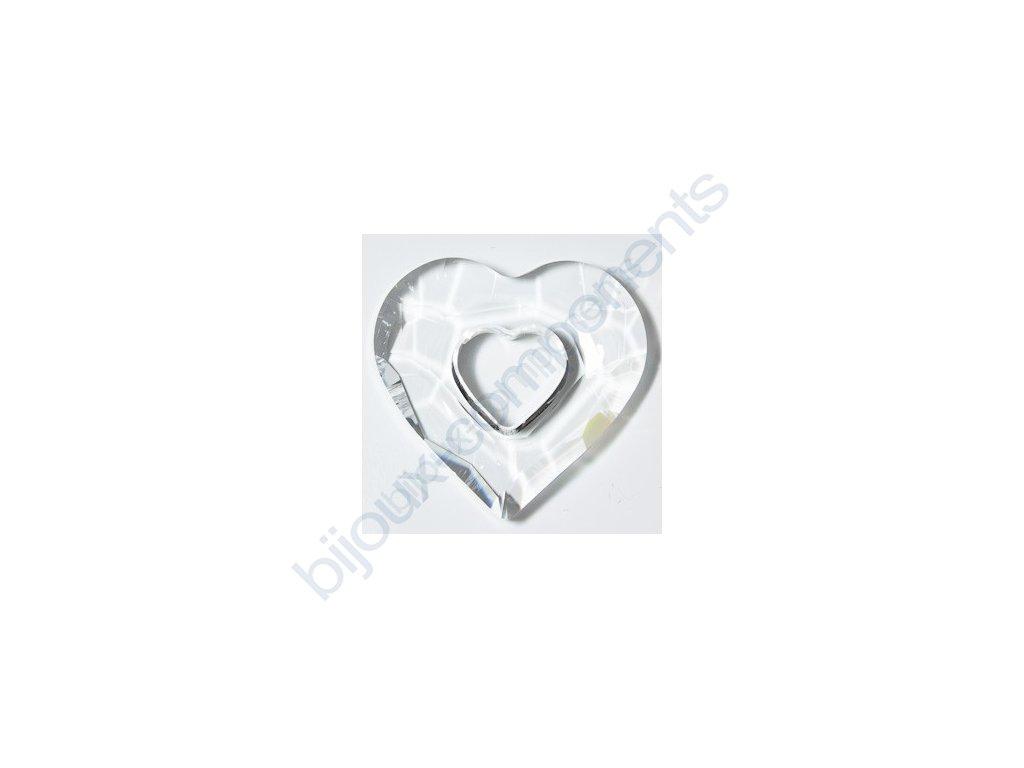 SWAROVSKI ELEMENTS přívěsek - Miss U Heart, crystal, 26mm