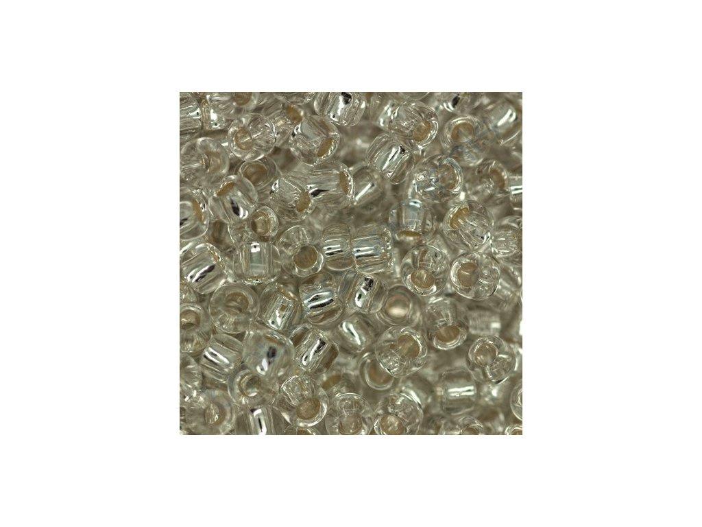 TOHO rokajl, Silver-Lined Crystal, vel.2,2 mm, průtah 0,8 mm
