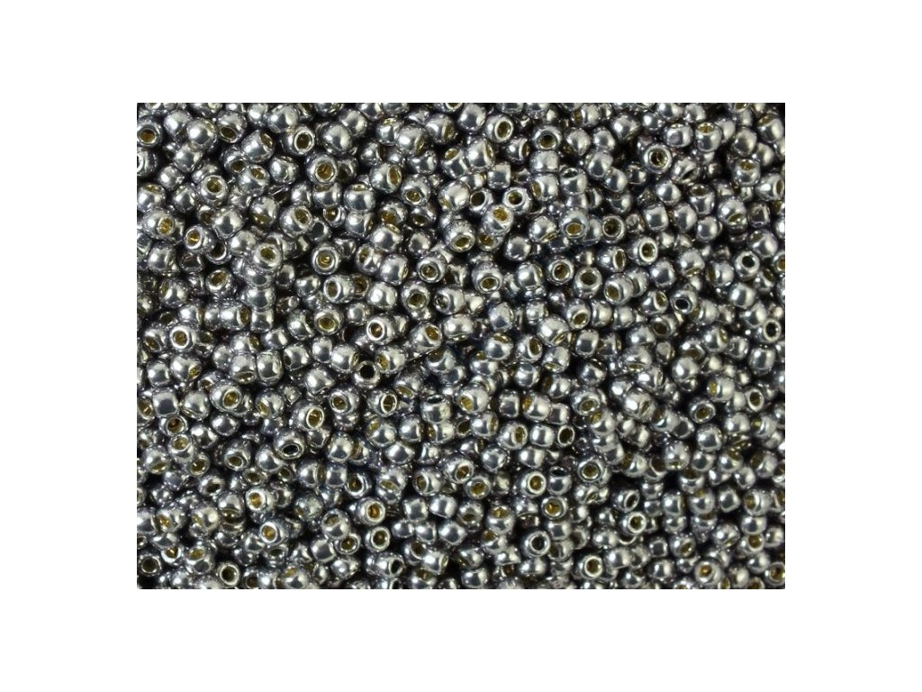 TOHO rokajl, Permanent-Finish-Galvanized Gunmetal Gray, vel.2,2 mm, průtah 0,8 mm