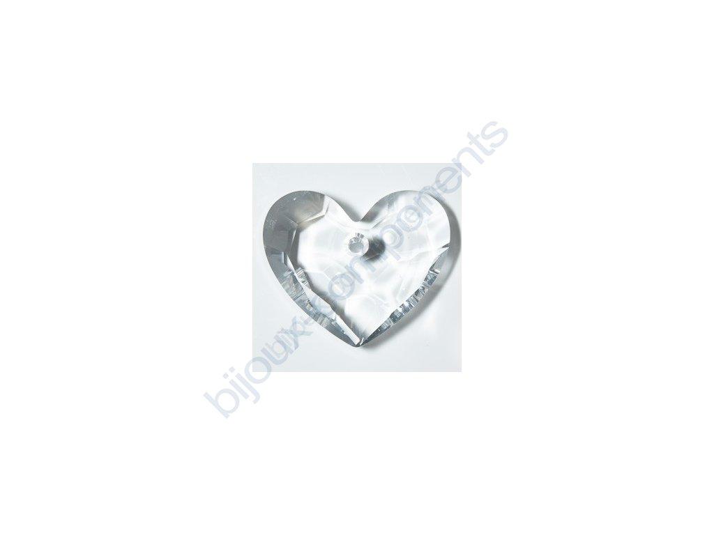 SWAROVSKI ELEMENTS přívěsek - Truly in Love Heart, crystal, 28mm