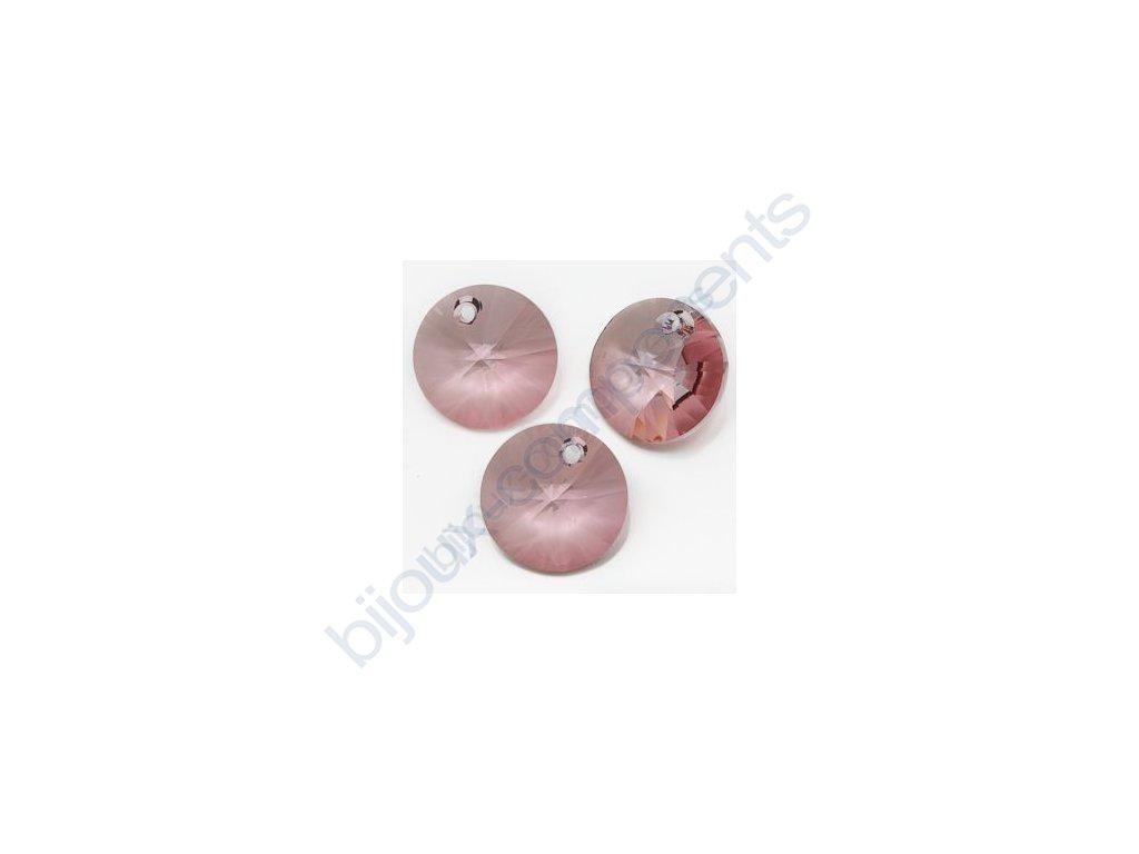 SWAROVSKI ELEMENTS přívěsek - XILION, crystal antique pink, 12mm