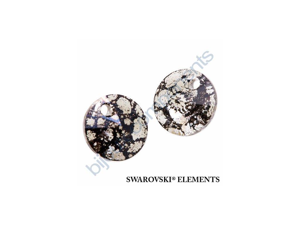 SWAROVSKI ELEMENTS přívěsek - XILION, crystal black patina, 12mm