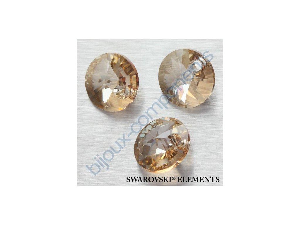 SWAROVSKI ELEMENTS přívěsek - XILION, crystal golden shadow, 12mm