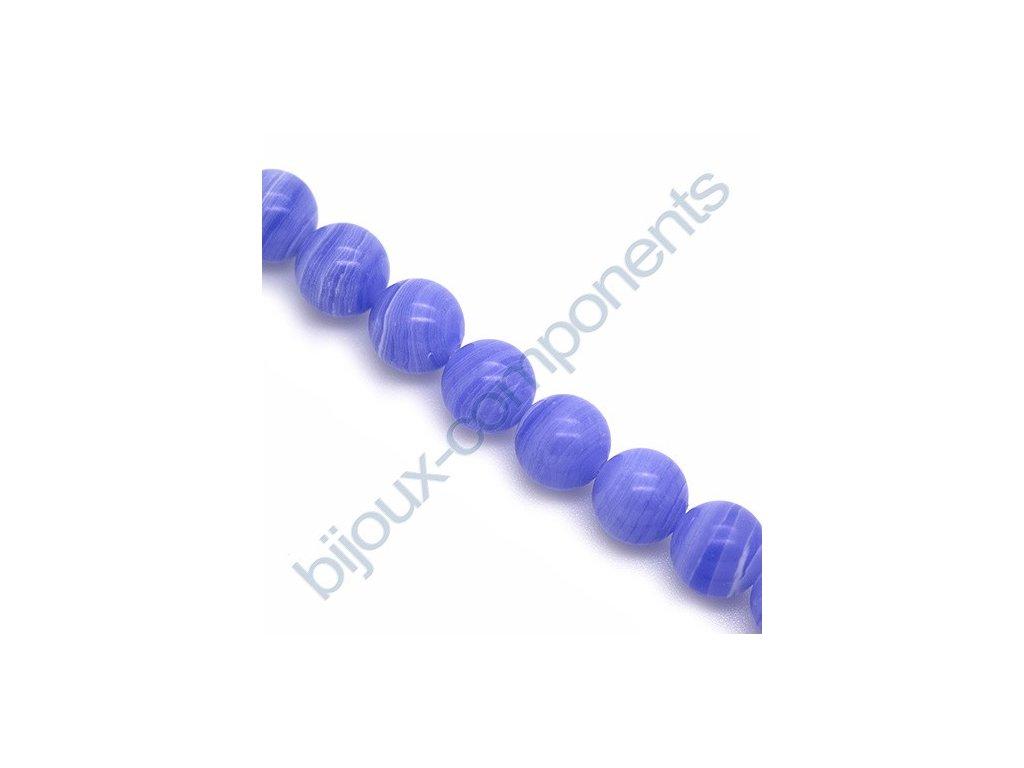 Polodrahokamové kuličky - Blue lace agate (imitation)