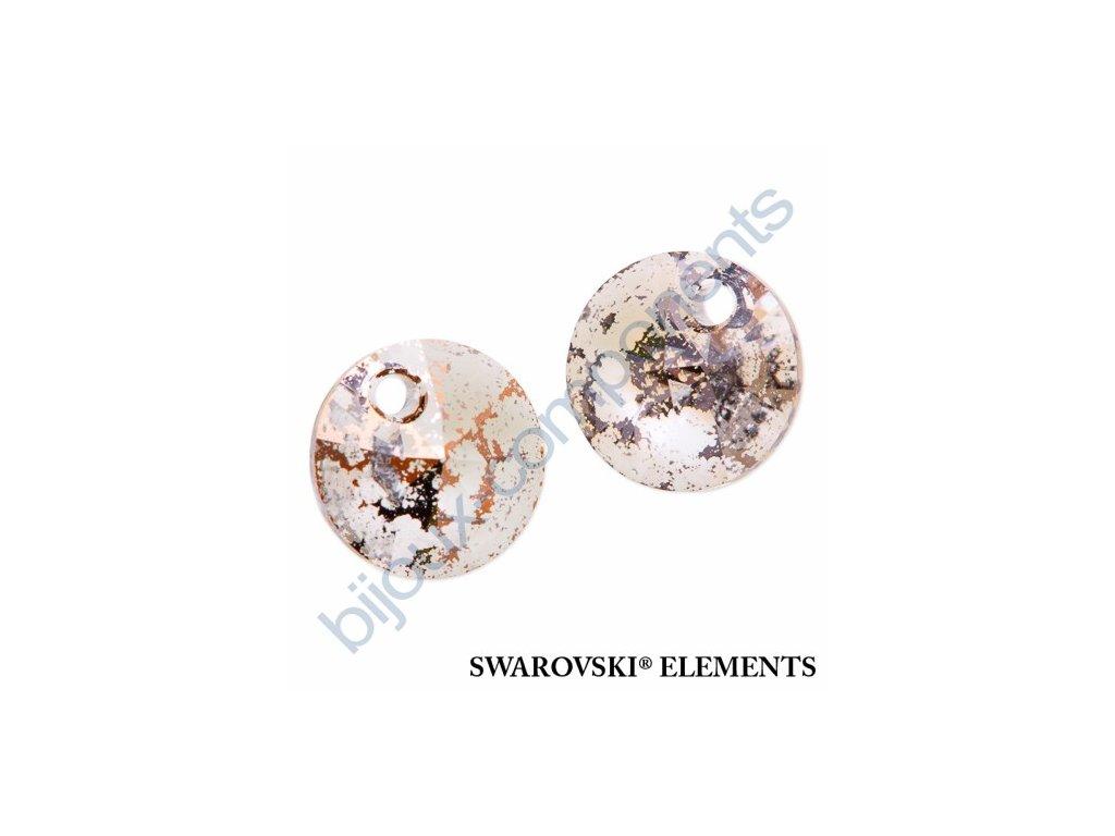 SWAROVSKI ELEMENTS přívěsek - XILION, crystal rose patina, 12mm
