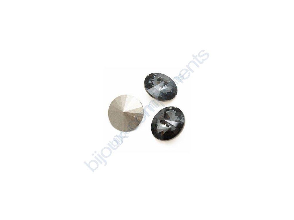 SWAROVSKI ELEMENTS kameny - Rivoli Chaton, crystal silver night, 18mm