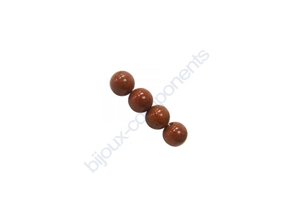 Polodrahokamové kuličky - brown gold stone
