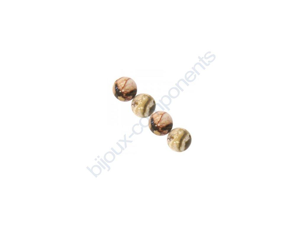 Polodrahokamové kuličky - cappuccino