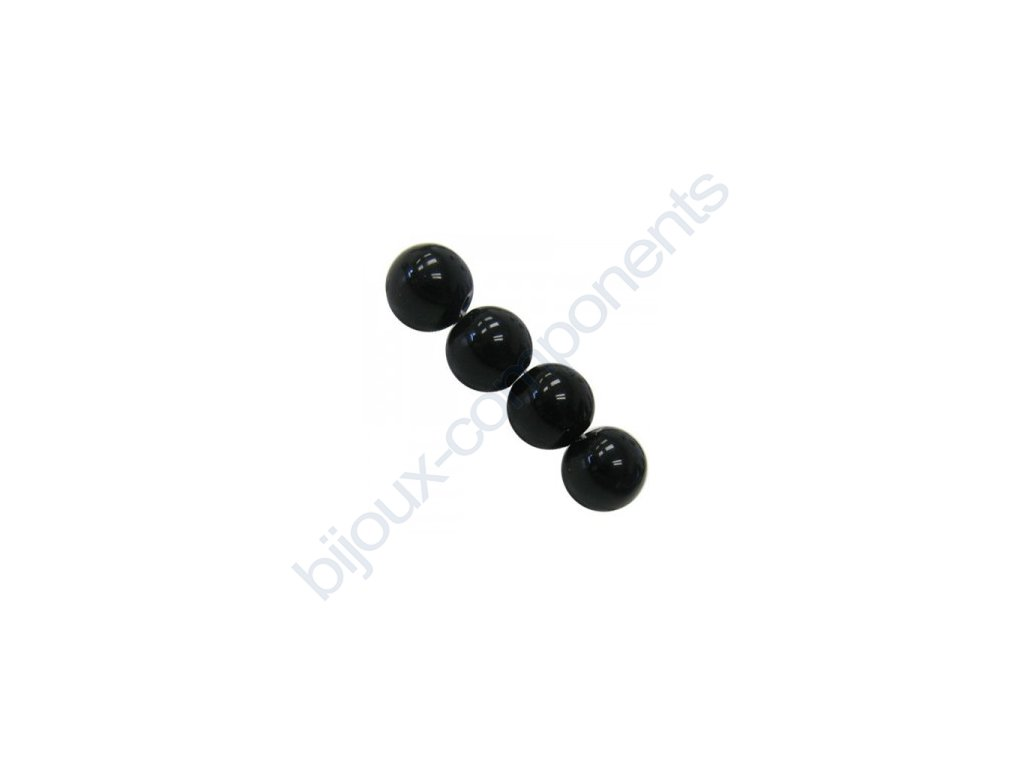 Polodrahokamové kuličky - black onyx (imitation)