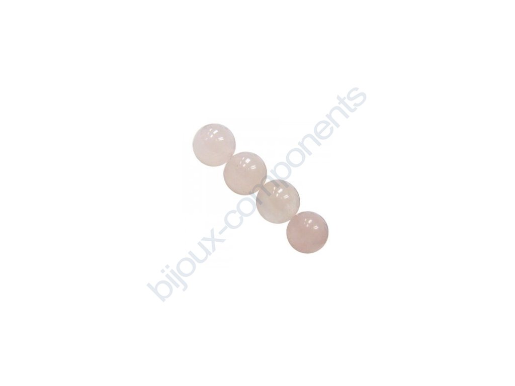 Polodrahokamové kuličky - rose quartz