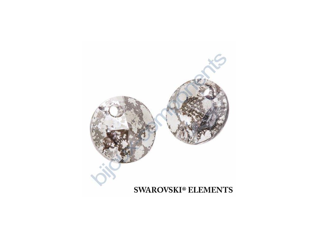 SWAROVSKI ELEMENTS přívěsek - XILION, crystal stříbrná patina, 8mm