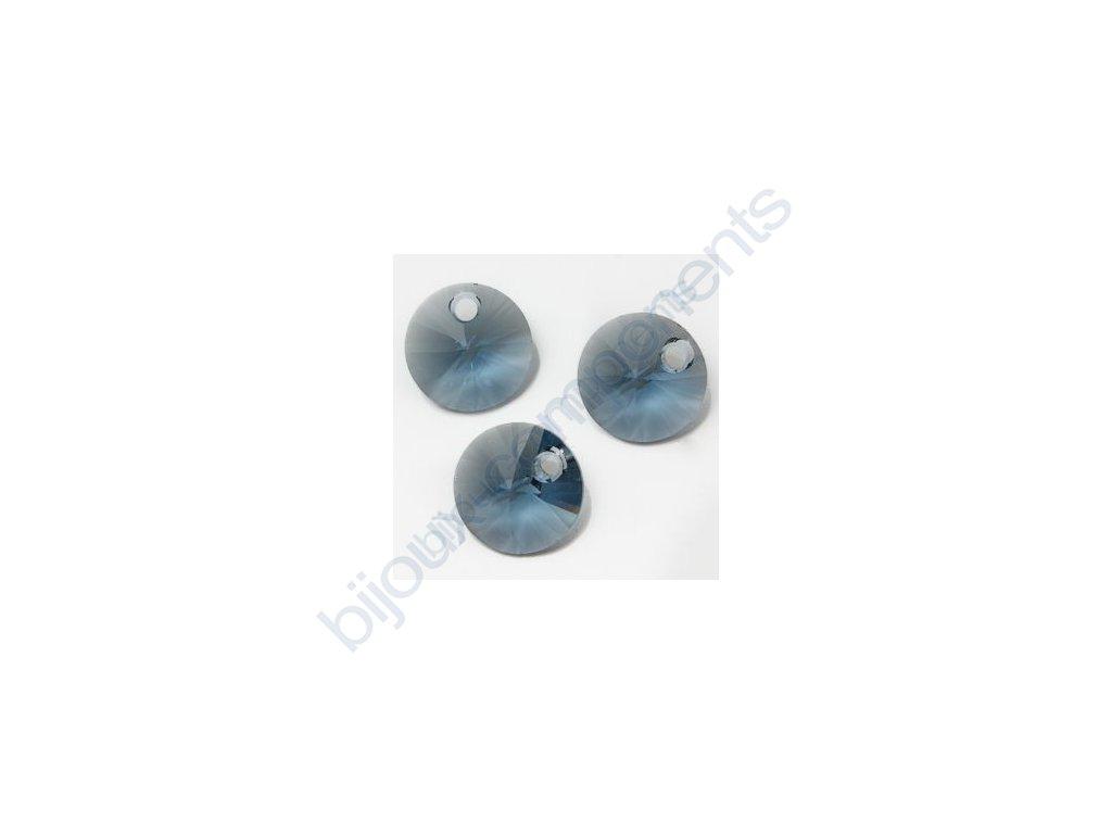 SWAROVSKI ELEMENTS přívěsek - XILION, denim blue, 8mm
