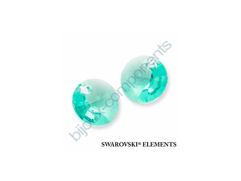 SWAROVSKI ELEMENTS přívěsek - XILION, light turquoise, 8mm