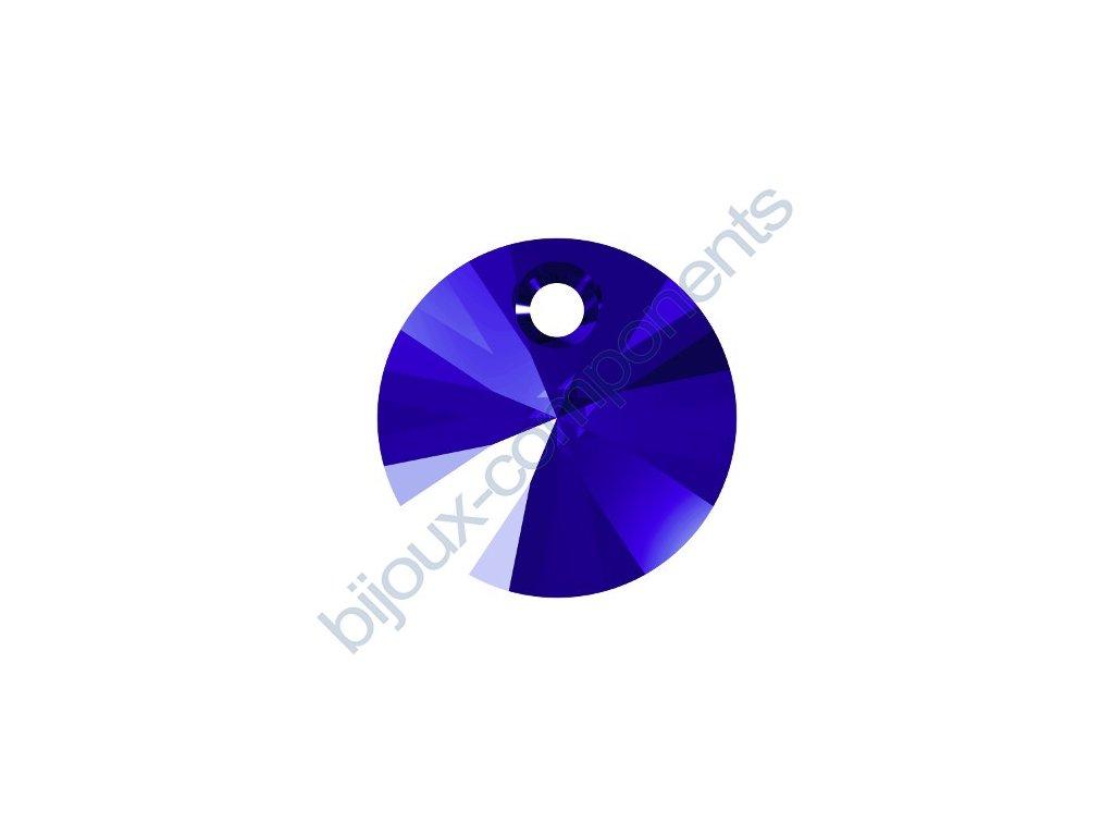 SWAROVSKI CRYSTALS přívěsek - XILION, majestic blue, 8mm