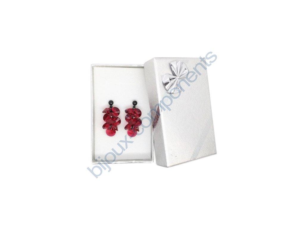 Dárková sada s kameny Swarovski Crystals, Xilion 6428, scarlet / černý zinek