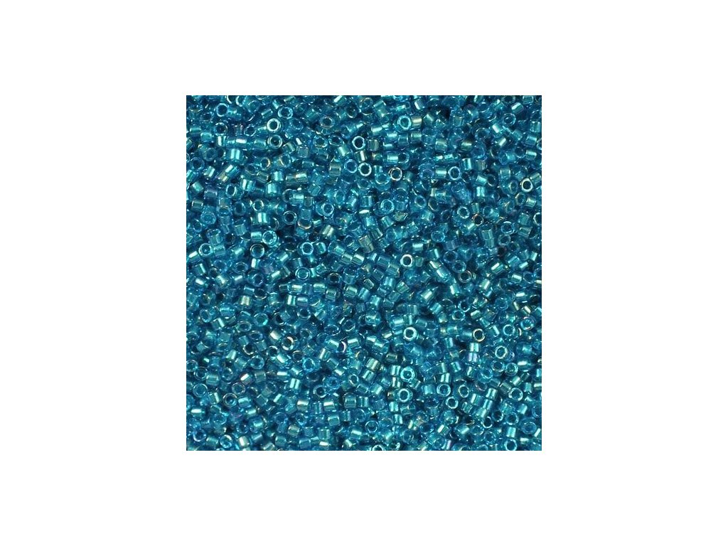 Miyuki Delica, Fancy Lined Teal Blue