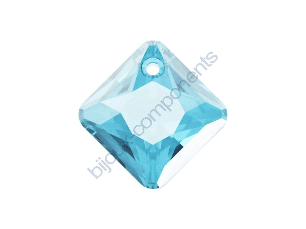 SWAROVSKI CRYSTALS přívěsek - Princess Cut, aquamarine, 16mm