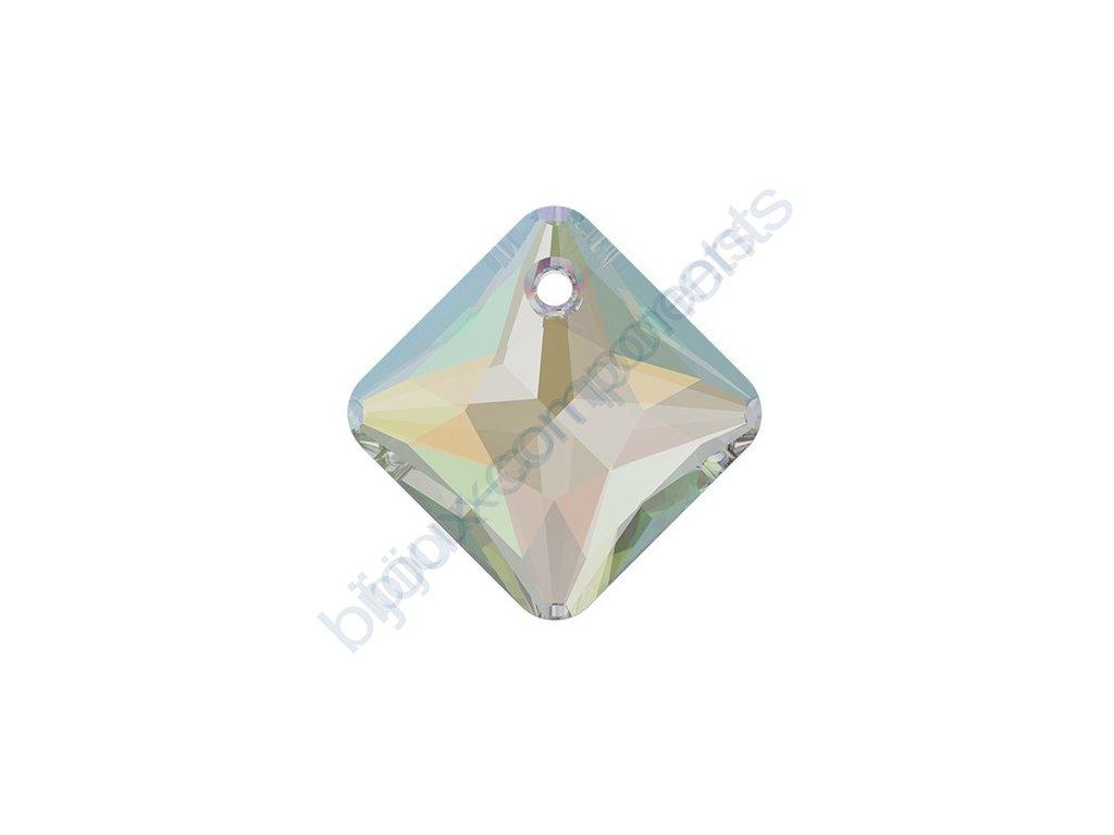 SWAROVSKI CRYSTALS přívěsek - Princess Cut, crystal AB, 16mm