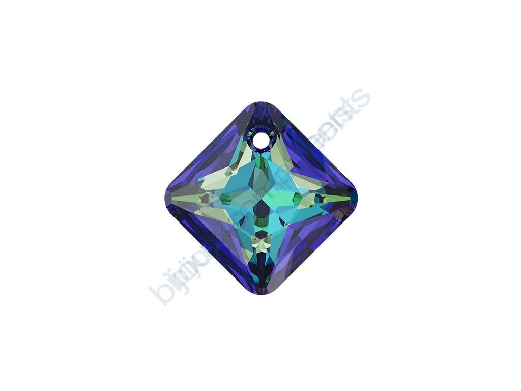 SWAROVSKI CRYSTALS přívěsek - Princess Cut, crystal bermuda blue, 16mm