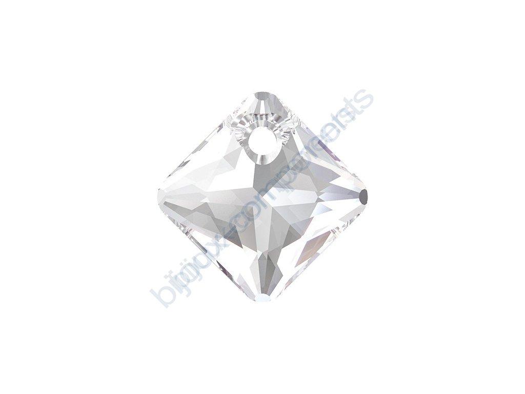 SWAROVSKI CRYSTALS přívěsek - Princess Cut, crystal, 11,5mm