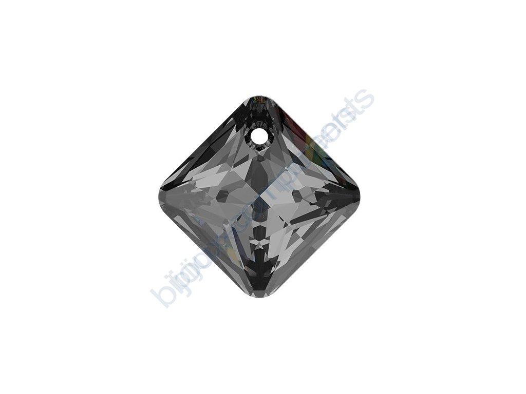 SWAROVSKI CRYSTALS přívěsek - Princess Cut, crystal silvernight, 11,5mm