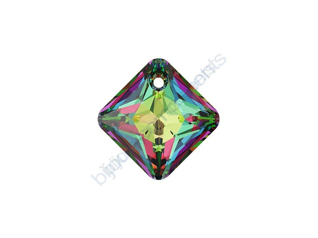 SWAROVSKI CRYSTALS přívěsek - Princess Cut, crystal vitrail medium, 11,5mm
