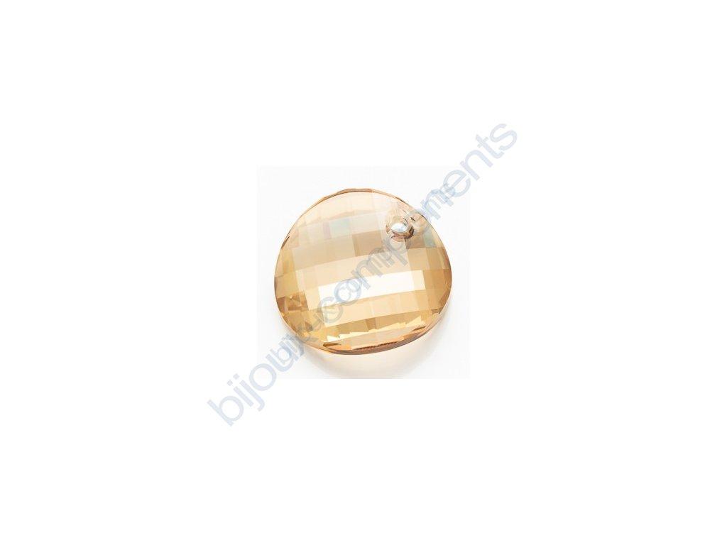 SWAROVSKI ELEMENTS přívěsek - Twist, crystal golden shadow, 18mm