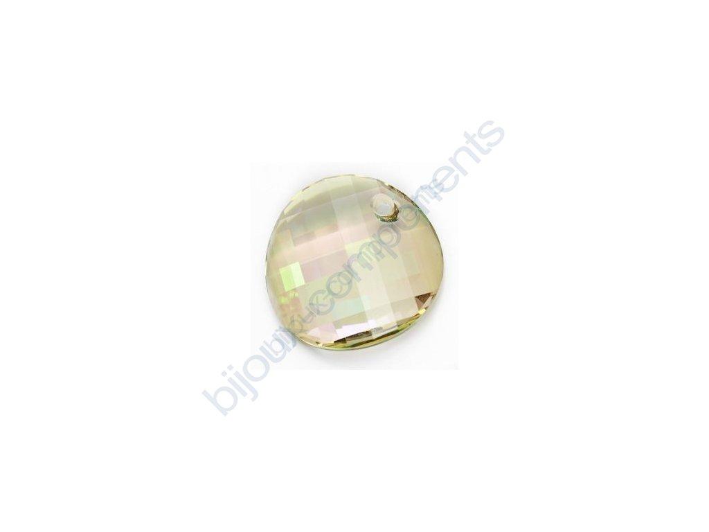 SWAROVSKI ELEMENTS přívěsek - Twist, crystal lumin green, 18mm