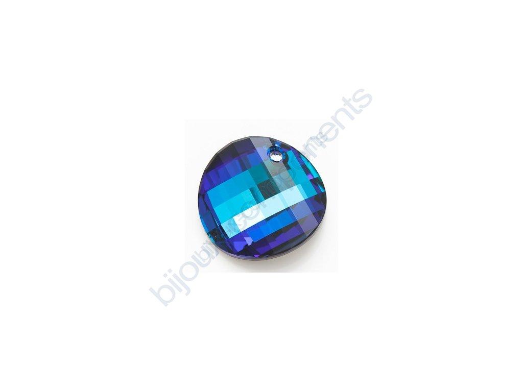 SWAROVSKI ELEMENTS přívěsek - Twist, crystal bermuda blue, 28mm