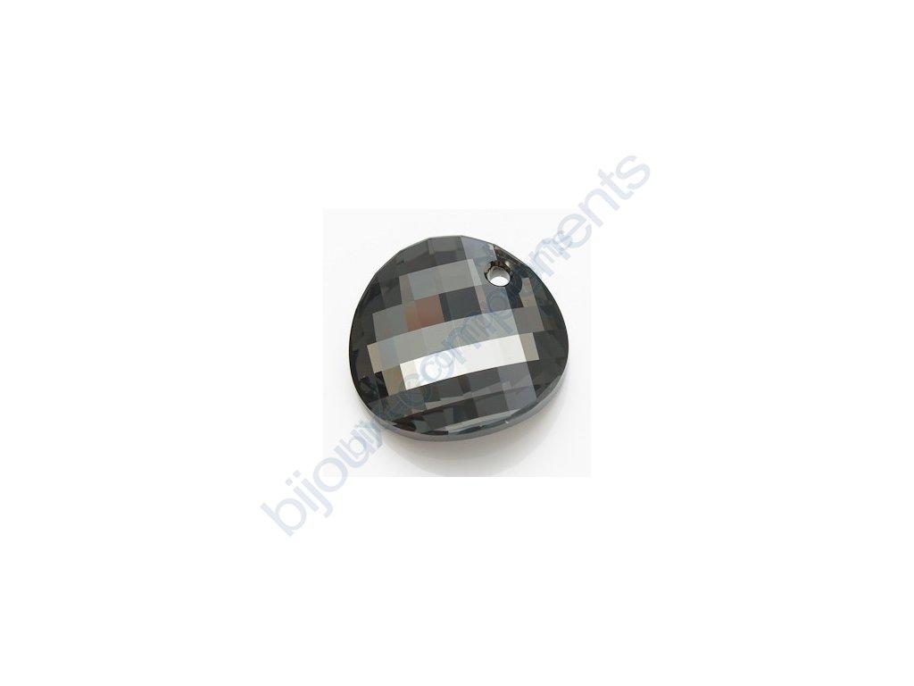 SWAROVSKI ELEMENTS přívěsek - Twist, crystal silver night, 28mm