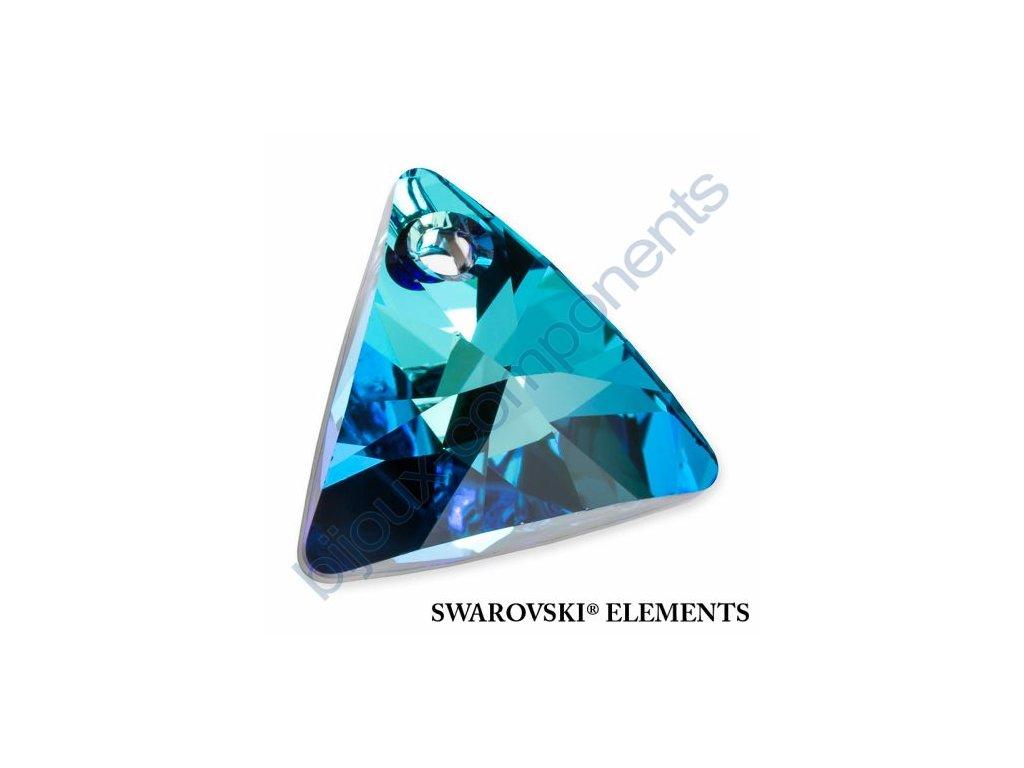 SWAROVSKI ELEMENTS přívěsek - XILION trojúhelník, crystal bermuda blue P, 16mm