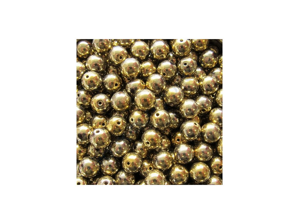 Skleněné korálky - kuličky - zlato-stříbrné
