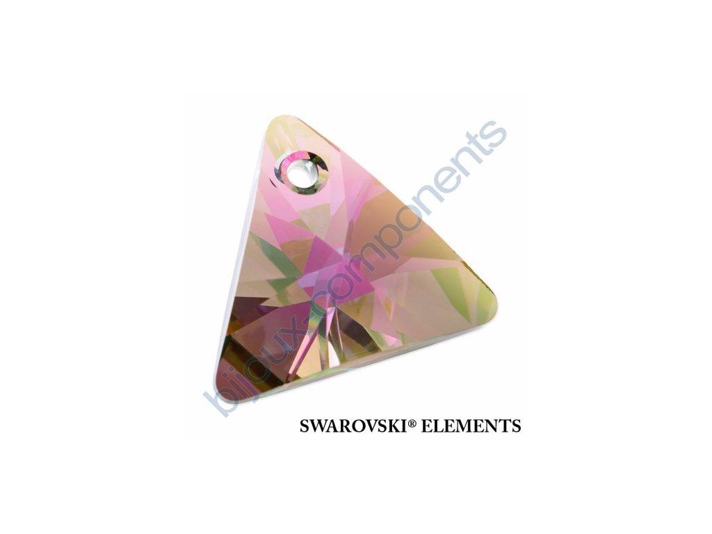 SWAROVSKI ELEMENTS přívěsek - XILION trojúhelník, crystal paradise shine, 16mm