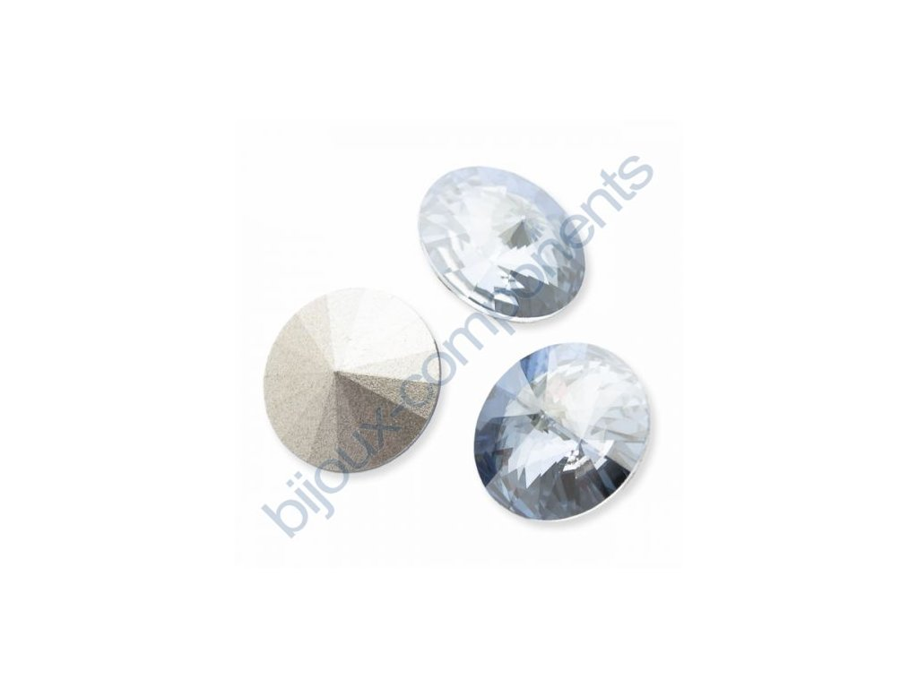 SWAROVSKI ELEMENTS kameny - Rivoli Chaton, crystal blue shade, 12mm