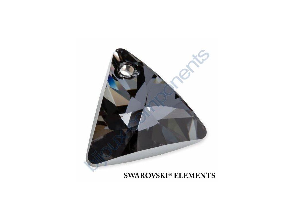 SWAROVSKI ELEMENTS přívěsek - XILION trojúhelník, crystal silver night, 12mm