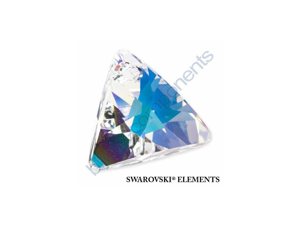 SWAROVSKI ELEMENTS přívěsek - XILION trojúhelník, crystal AB, 8mm