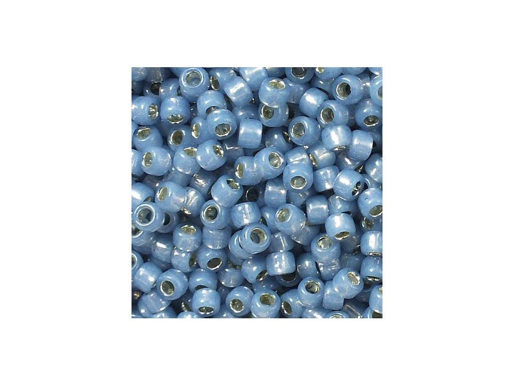 TOHO rokajl, Silver-Lined Milky Montana Blue, vel.3,1 mm, průtah 1,3 mm