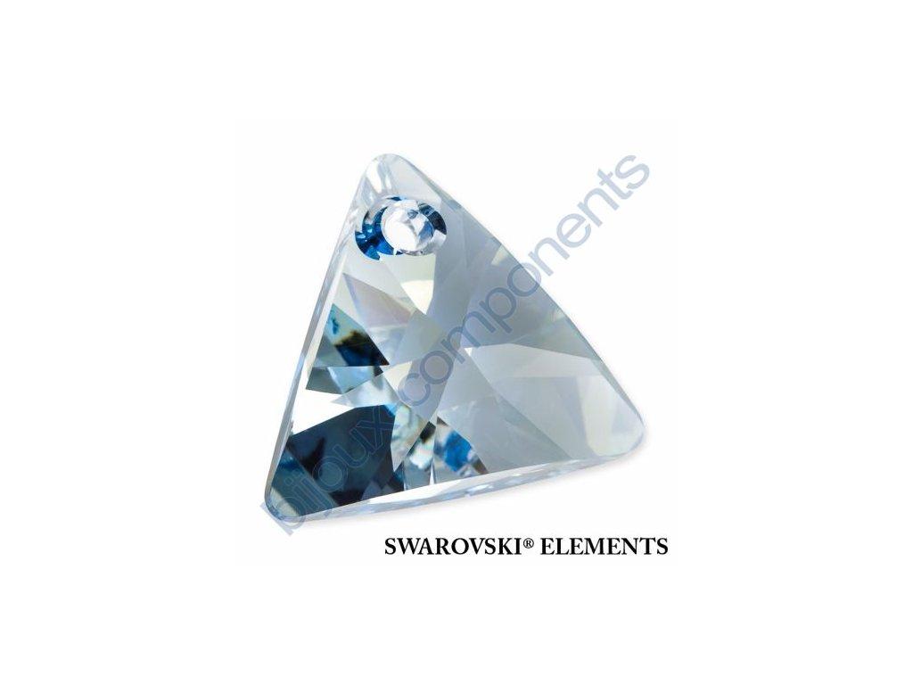 SWAROVSKI ELEMENTS přívěsek - XILION trojúhelník, crystal blue shade, 8mm