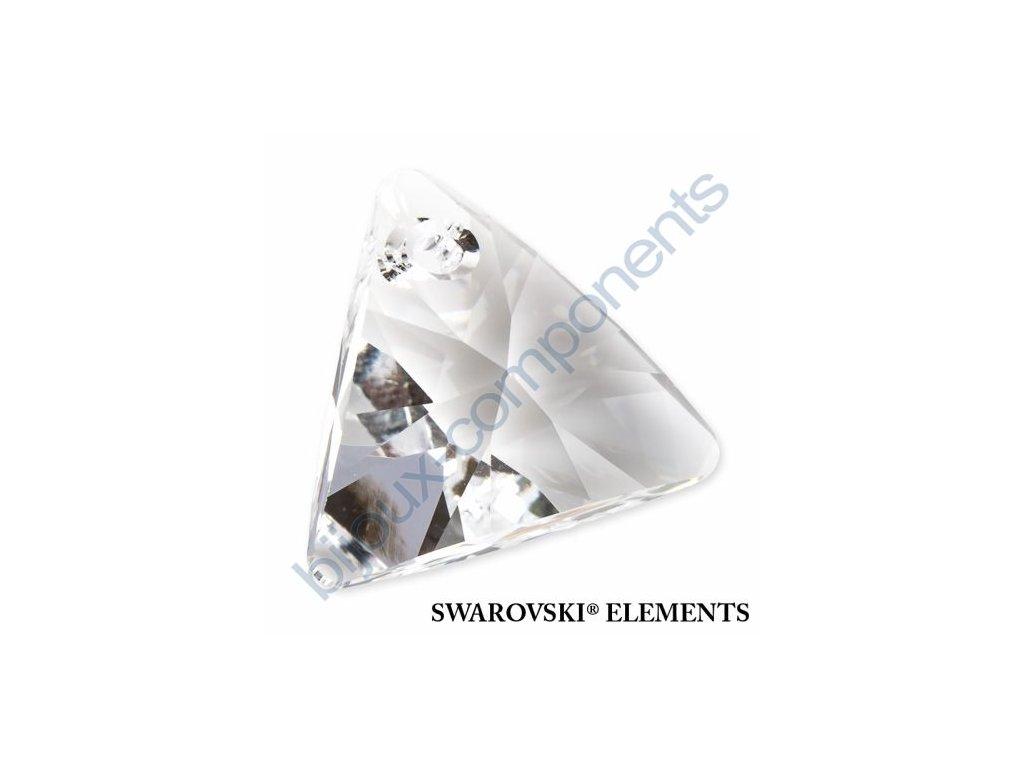 SWAROVSKI ELEMENTS přívěsek - XILION trojúhelník, crystal, 8mm