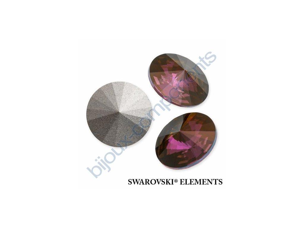 SWAROVSKI ELEMENTS kameny - Rivoli Chaton, crystal lilac shadow, 12mm