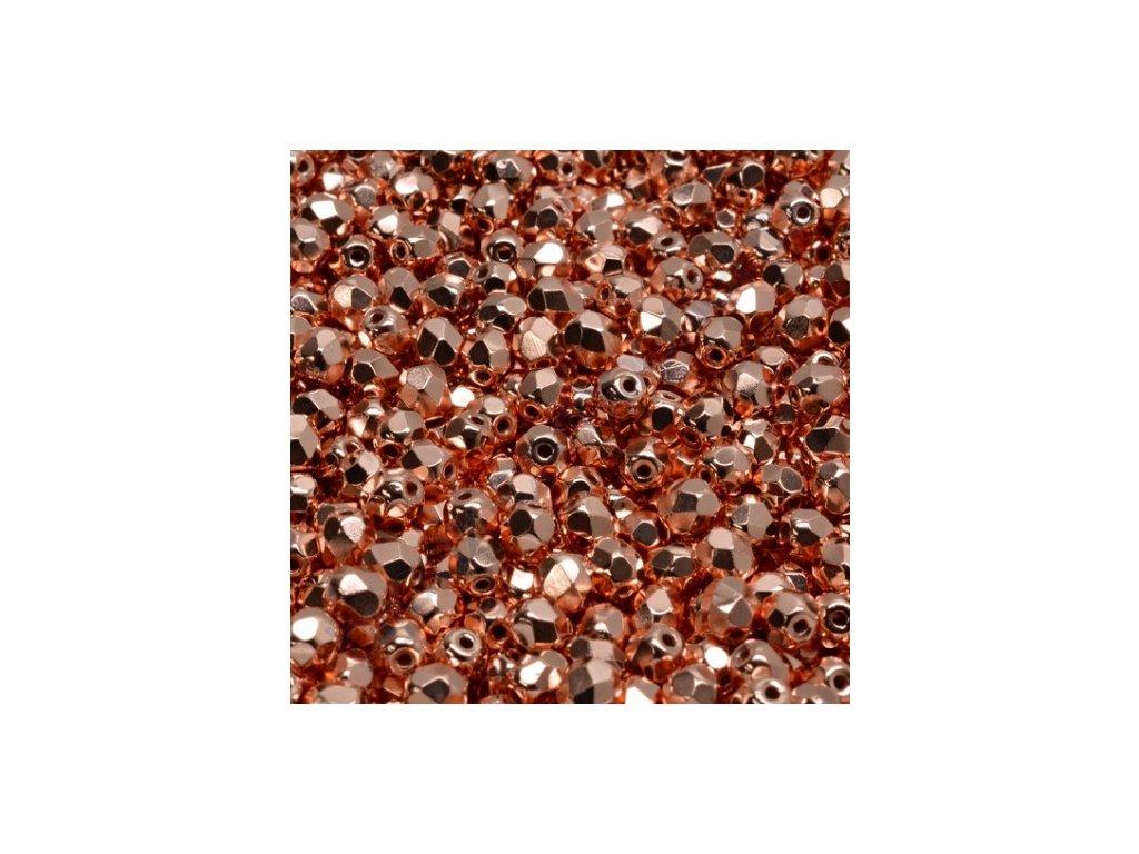 Skleněné ohňové korálky - měděné, 4 mm