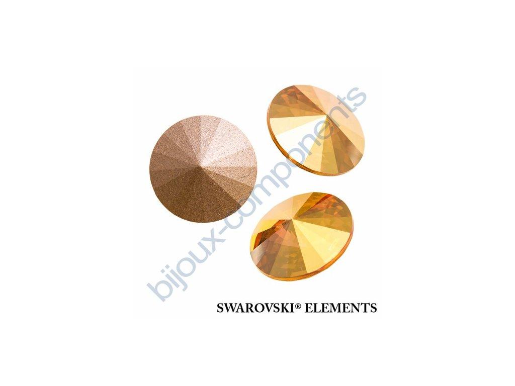 SWAROVSKI ELEMENTS kameny - Rivoli Chaton, crystal metallic sunshine, 12mm