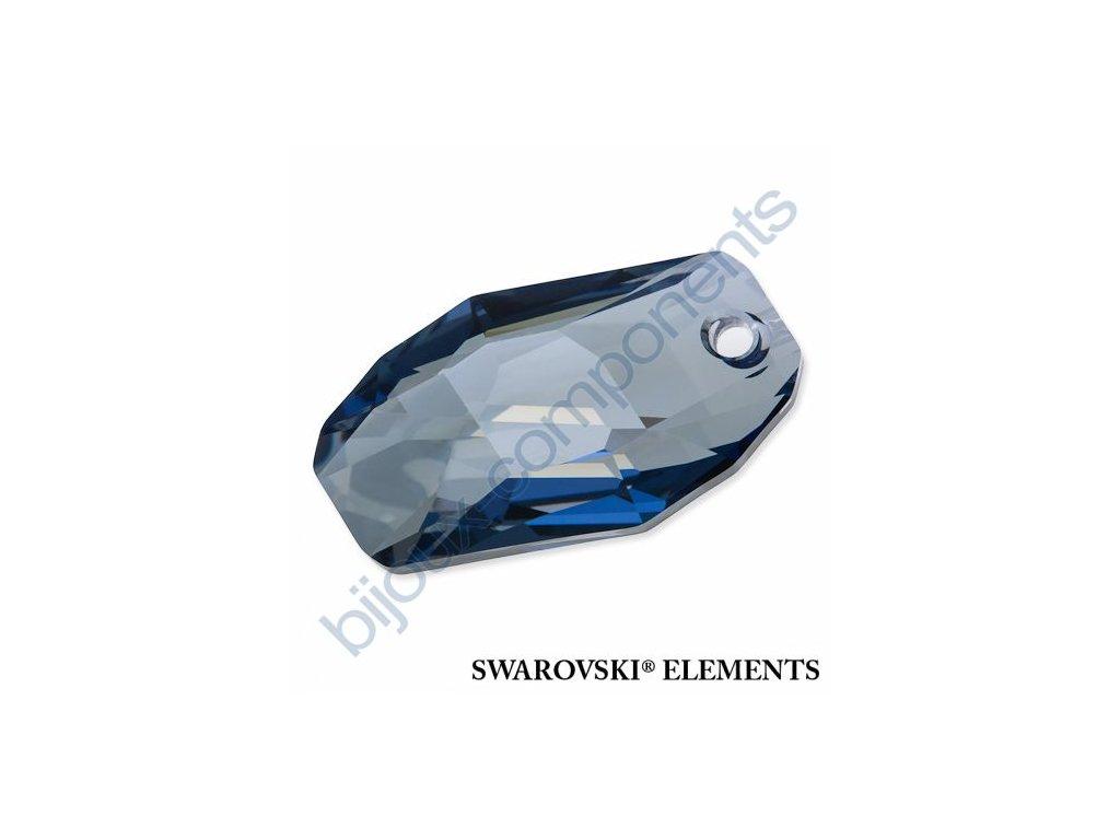 SWAROVSKI ELEMENTS přívěsek - Meteor, crystal blue shade, 28mm