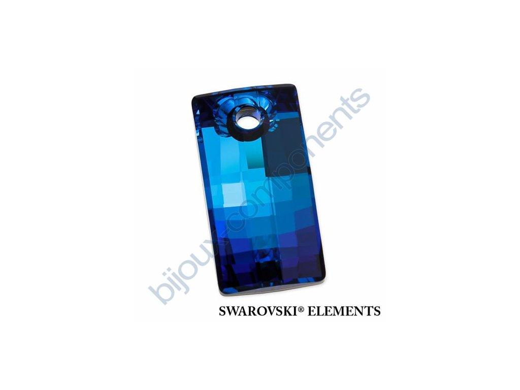 SWAROVSKI ELEMENTS přívěsek - Urban, crystal bermuda blue P, 20mm