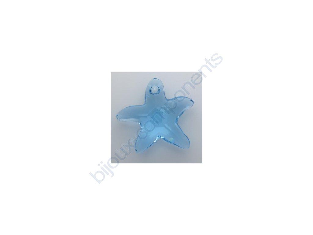 SWAROVSKI ELEMENTS přívěsek - mořská hvězda, aquamarine, 16mm