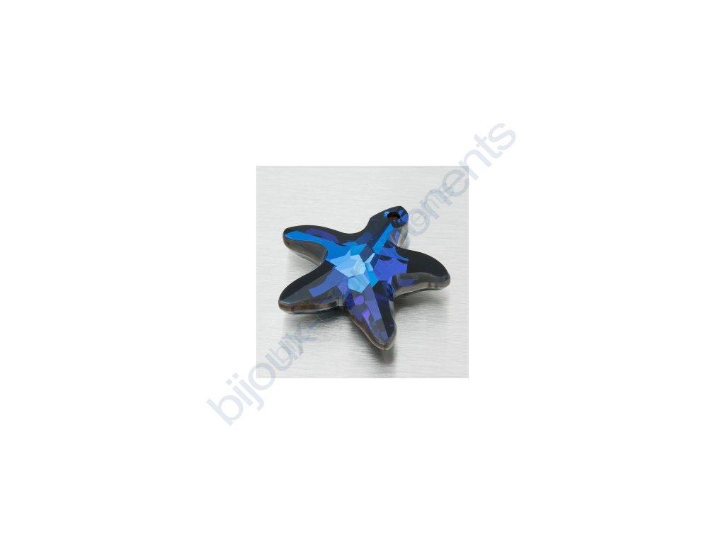 SWAROVSKI ELEMENTS přívěsek - mořská hvězda, crystal bermuda blue, 16mm