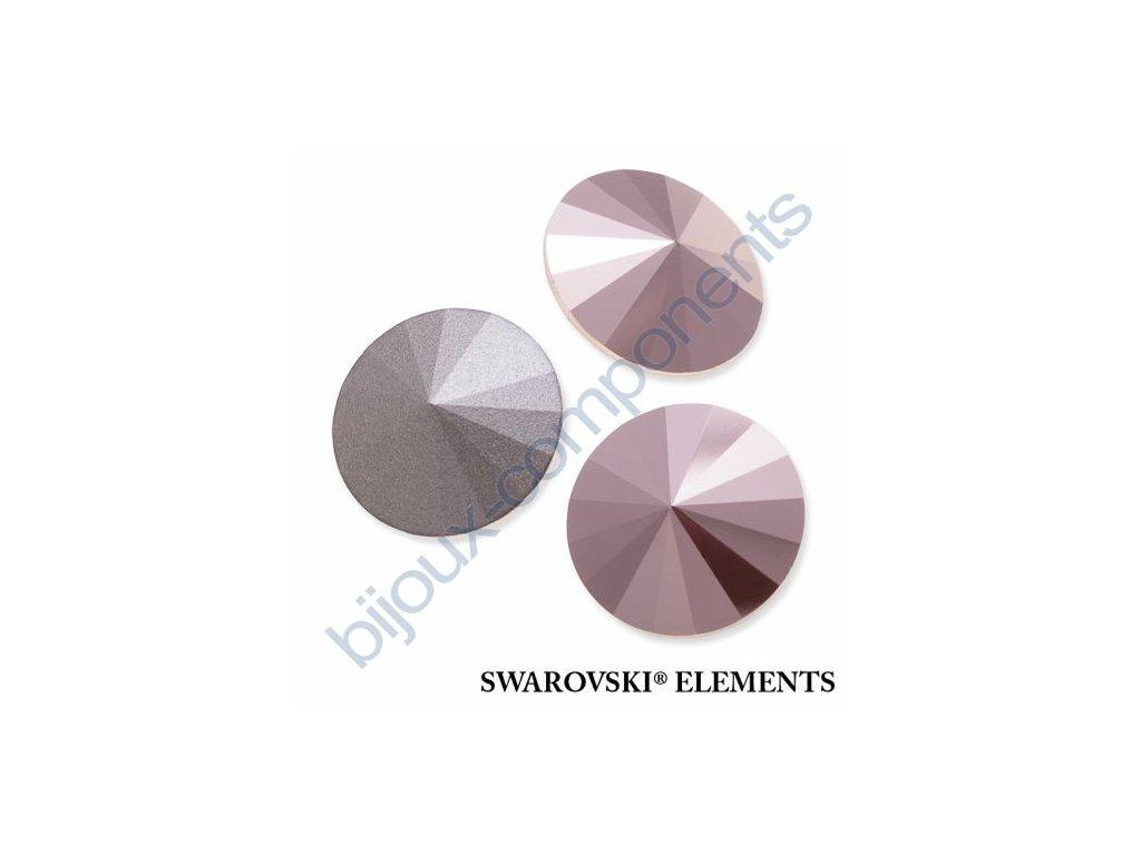 SWAROVSKI ELEMENTS kameny - Rivoli Chaton, crystal rose gold, 12mm