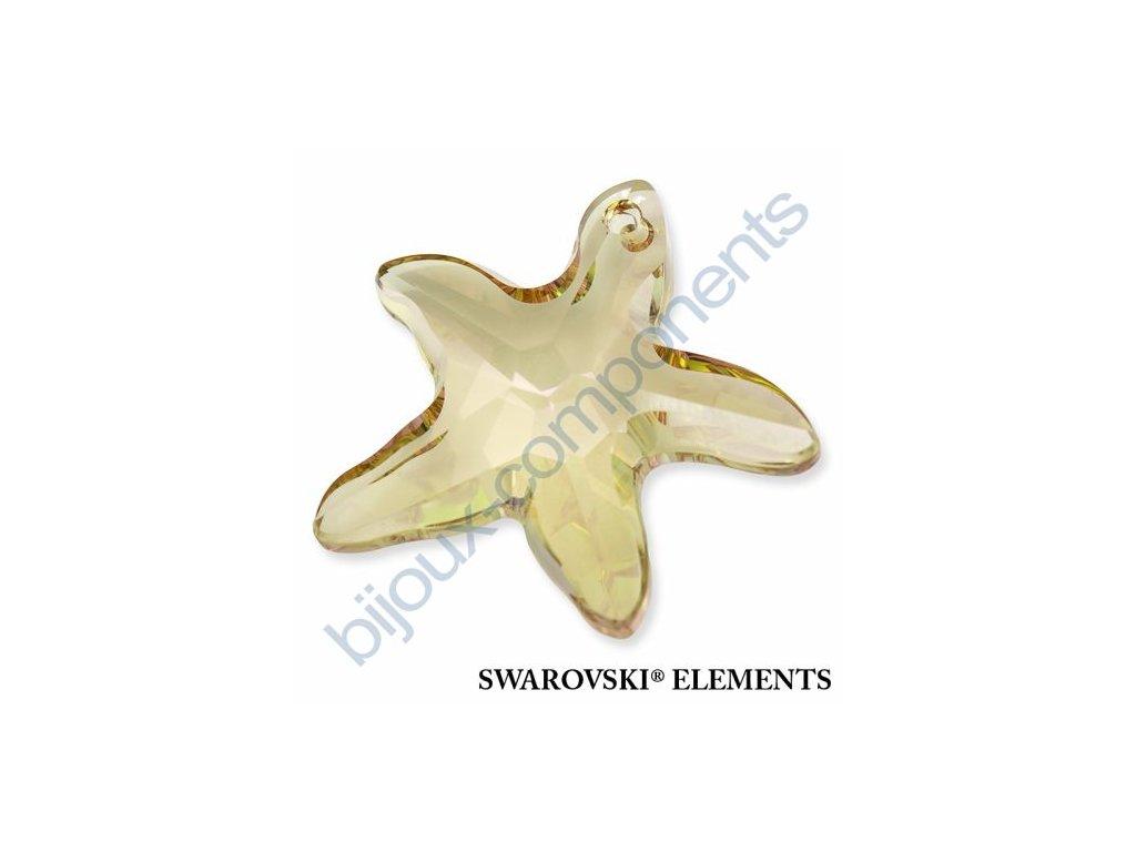 SWAROVSKI ELEMENTS přívěsek - Mořská hvězda, crystal lumin green, 16mm